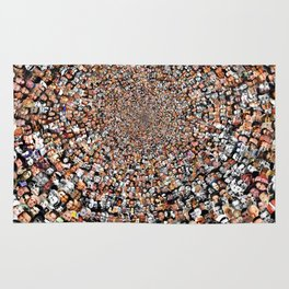 """The Work 3000 Famous and Infamous Faces Collage Rug"