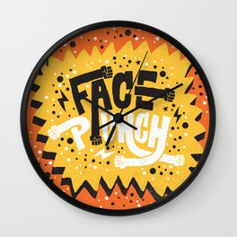 FACE PUNCH Wall Clock