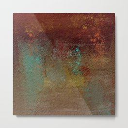 Copper, Gold, and Turquoise Textures Metal Print