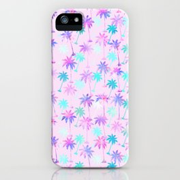 Palm tree pattern iPhone Case