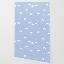 Polar Bears Pattern Wallpaper