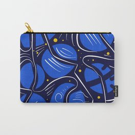 Blue Universe Galaxy with yellow stars Carry-All Pouch