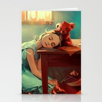 kindle Stationery Cards featuring When she was six by Cyril ROLANDO
