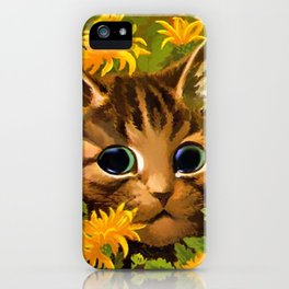 "Louis Wain's Cats ""Tabby in the Marigolds"" iPhone Case"