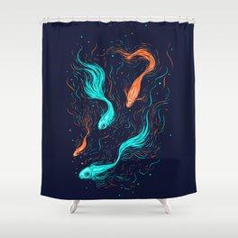 Neon Float Shower Curtain