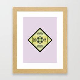 Chicago Print - Restaurants Framed Art Print
