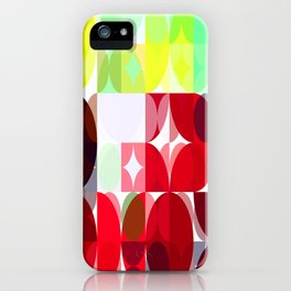 Mixed Color Poinsettias 2 Abstract Circles 3 iPhone Case