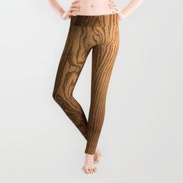 Wood 5, heavily grained wood Horizontal grain Leggings
