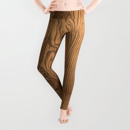 Wood 5, heavily grained wood Horizontal grain Leggings