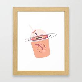 Into the Black Hole Cafe Framed Art Print
