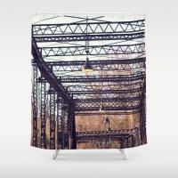 bridge Shower Curtains featuring Bridge by myhideaway
