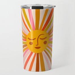 Sunshine – Retro Ochre Palette Travel Mug
