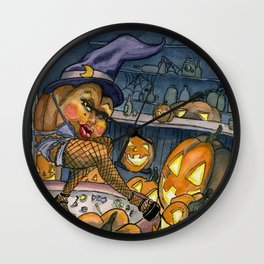Pumpkin Stripper Wall Clock