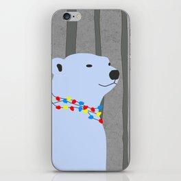 Polar Bear Holiday Design iPhone Skin