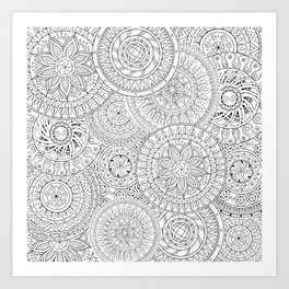 Circle Doodle Art Wall Tapestry by casesbykate   Society6
