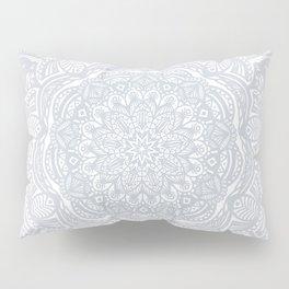 Light Gray Ethnic Eclectic Detailed Mandala Minimal Minimalistic Pillow Sham