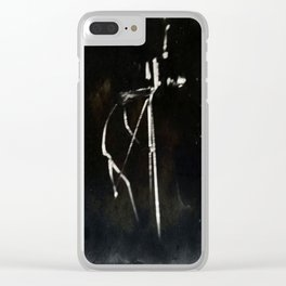 TinType Wire Photographer Clear iPhone Case