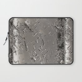 Silver Steel Abstract Metal Background Laptop Sleeve