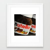 nutella Framed Art Prints featuring Nutella by Max Jones