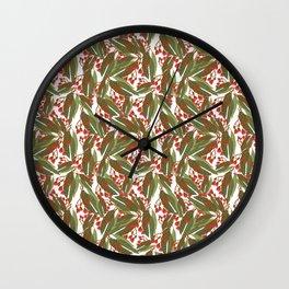 Flowering Gum - White Wall Clock