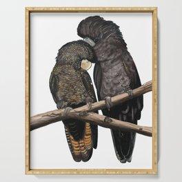 Black Cockatoos Serving Tray