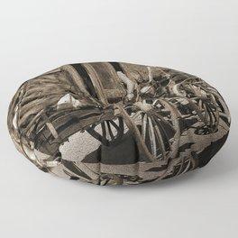 Tombstone Stagecoach Floor Pillow