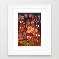 muppets Framed Art Prints featuring The Muppets by Groovy Bastard