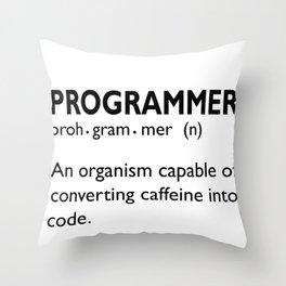 Computer Programmer Convert Caffeine to Code Throw Pillow