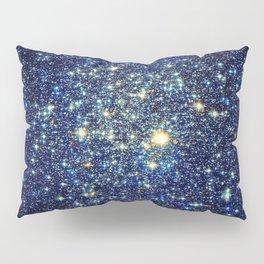galaxY Stars : Midnight Blue & Gold Pillow Sham
