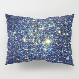 galaxY Stars : Midnight Blue & Gold Pillow Sham