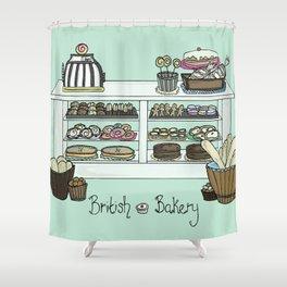 British Bakery Shower Curtain