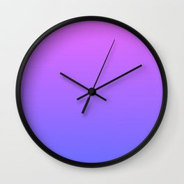 Violet and Blue Gradient Wall Clock