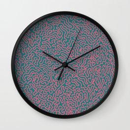 Pink Roots Wall Clock