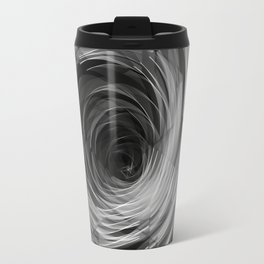Black Faceted Swirl Travel Mug