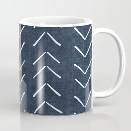 Mud Cloth Big Arrows in Navy Coffee Mug