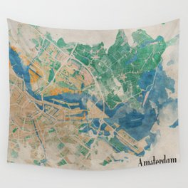 Amsterdam, the watercolor beauty Wall Tapestry