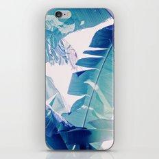 Banana Leaf Blue iPhone Skin