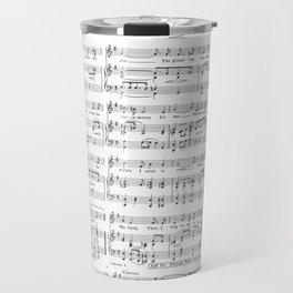 Sheet Music Black and White Pattern Travel Mug