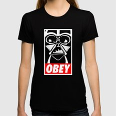 Obey Darth Vader - Star Wars X-LARGE Womens Fitted Tee Black