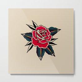 Rose Traditional Metal Print