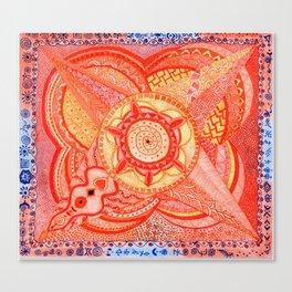 Energy of Orange-Sacral Chakra Canvas Print