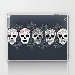 Celebracion de Gris_Calaveras Sugar Skulls line_RobinPickens Laptop & iPad Skin