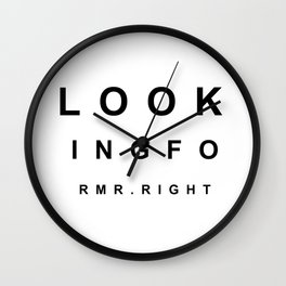 Looking for Mr. Right Wall Clock