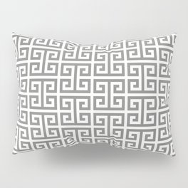 Gray and White Greek Key Pattern Pillow Sham
