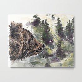 Boreal Bear Metal Print