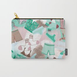 Laundry Day 2 _ Pink /Purple/Green/Sea Foam Carry-All Pouch