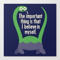 monika strigel Canvas Prints featuring Myth Understood by David Olenick