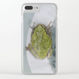 Lounging by the Pool Clear iPhone Case