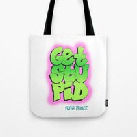 fresh prince Tote Bags featuring Fresh Prince by DeMoose_Art