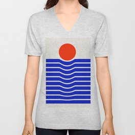 Going down-modern abstract Unisex V-Neck
